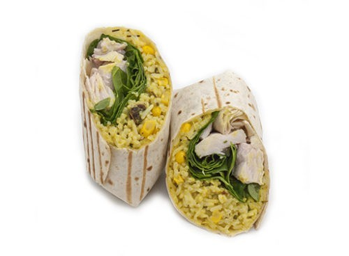 Wrap de pollo y curry